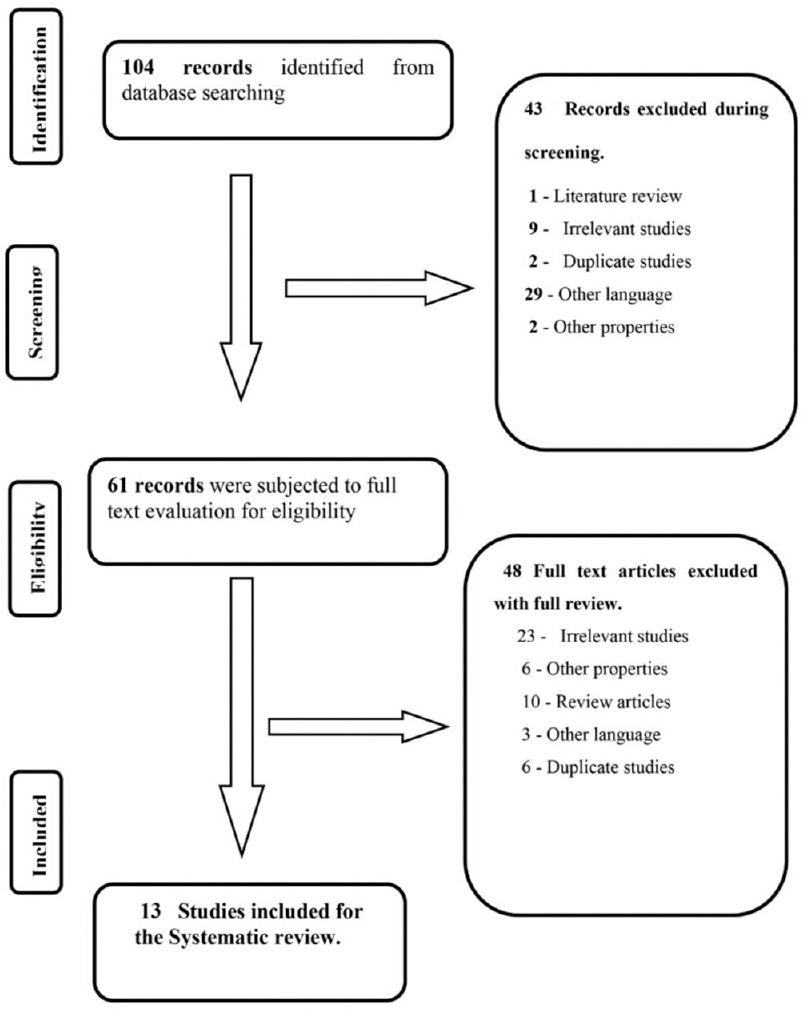 Figure 1: A flowchart of the systematic review process