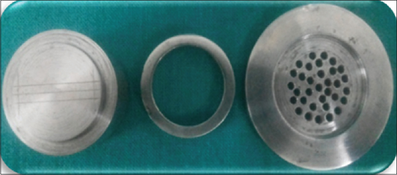 Figure 2:  Stainless steel metal die